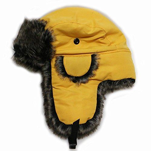 Trapper Ski (City Hunter W200n Original Solid Trapper Ski Hat - Gold)