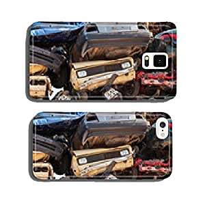 Abstract background with colorful dump of stacked cars in junkya cell phone cover case iPhone6 Plus