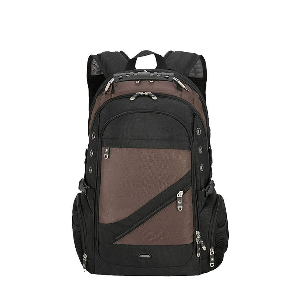 Café  Randonnée en plein air sac à dos - sac à dos multifonction d'affaires de mode sac à dos pour ordinateur portable sac à dos en nylon imperméable pour hommes et femmes (48  38  25 cm)