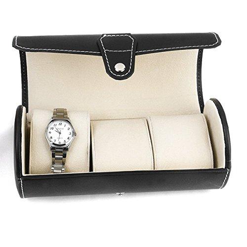NUOLUX Watch Display Box 3-fach PU (schwarz) -