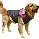 PAWZ Road Pet Clothes For Small Medium and Large Dogs Winter Warm Vest Jacket Easy On/Off Pink 4L