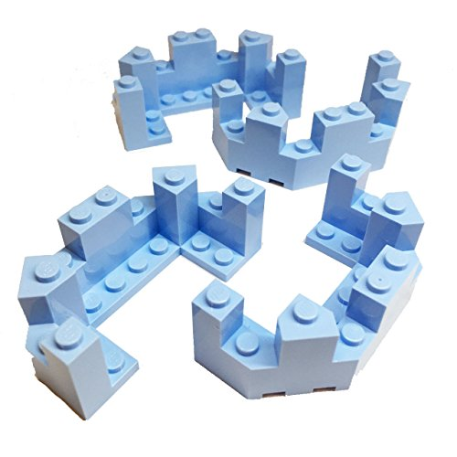 Lego Parts: Cinderella's Castle - Roof Turret Top 4 x 8 x 2 1/3 (Service Pack of 4 - Bright Light (Blue Cinderella Castle)