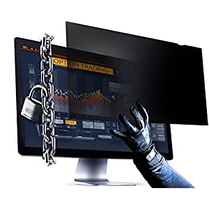 21.5 Inch (Diagonally Measured) Computer Privacy Screen Filter - Anti-Scratch, Anti-Glare Protector for Widescreen Monitors by VINTEZ