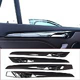 4pcs Carbon fiber For BMW New X1 F48 2016-2018 ABS Plastic Interior Door Decoration Strips Cover Trim For BMW X2 F47 2018