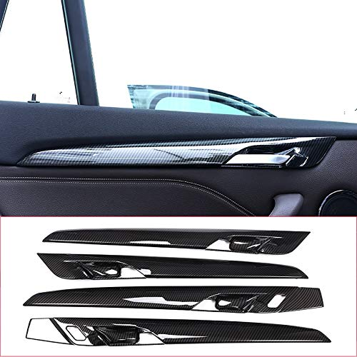4pcs Carbon fiber For BMW New X1 F48 2016-2018 ABS Plastic Interior Door Decoration Strips Cover Trim For BMW X2 F47 2018 by silutong (Image #9)