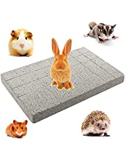 Rabbit Grinding Claw Pad Lava Grinding Teeth Stone Chew Toy Foot Pad for Bunny Rabbit Chinchilla Guinea Pig Totoro Hedgehog Hamster Rodent Small Animals