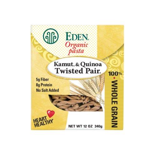 Eden Bio Kamut & Quinoa paire torsadée, 100 % de grains entiers, 12 boîtes-once (Pack de 6)
