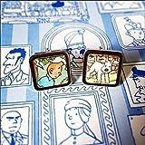 Tintin comic character Cufflinks with Free gift box