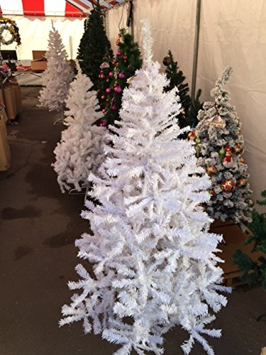 Perfect Holiday Unlit Artificial Christmas Tree, 7-Feet, Crystal White