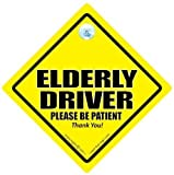 Elderly Driver Car Sign, Automobile Sign, Baby on Board Car Sign, Joke Car Sign, , Oap Car Sign, Funny Old Age Car Sign, Maternity Car Sign, Decal, Bumper Sticker,