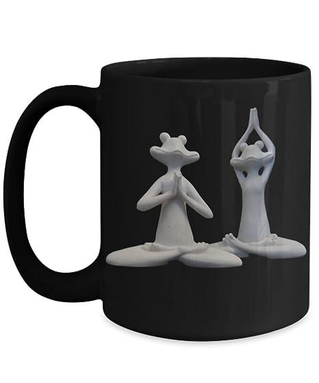 Amazon.com: Rana Yoga – Taza de café – regalo para los ...