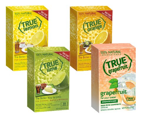 True Lemon, Lime, Orange & Grapefruit 32ct Boxes Sampler Pack (4 packs)