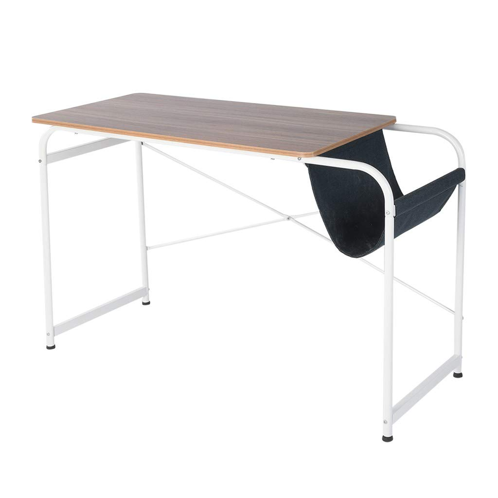 Laptop Desk Office Desk,Round Corner,for Home Office Dorm,47.2 x 19.7 x 29.9 inches Writing Computer Desk Study Table Workstation with Cloth Bag Storage
