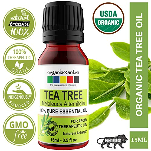 Organix Mantra Tea Tree Essential Oil For Skin, Hair, Face, Acne Care, 15Ml Pure, Natural And...