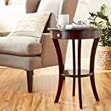 Frenchi Furniture Wood Round Table with Drawer and