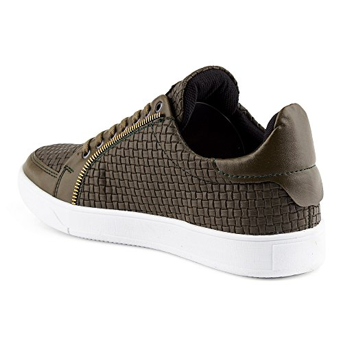 FiveSix Reißverschluss Khaki Herren Muster Sportschuhe Sneaker vYtwnxYrqH