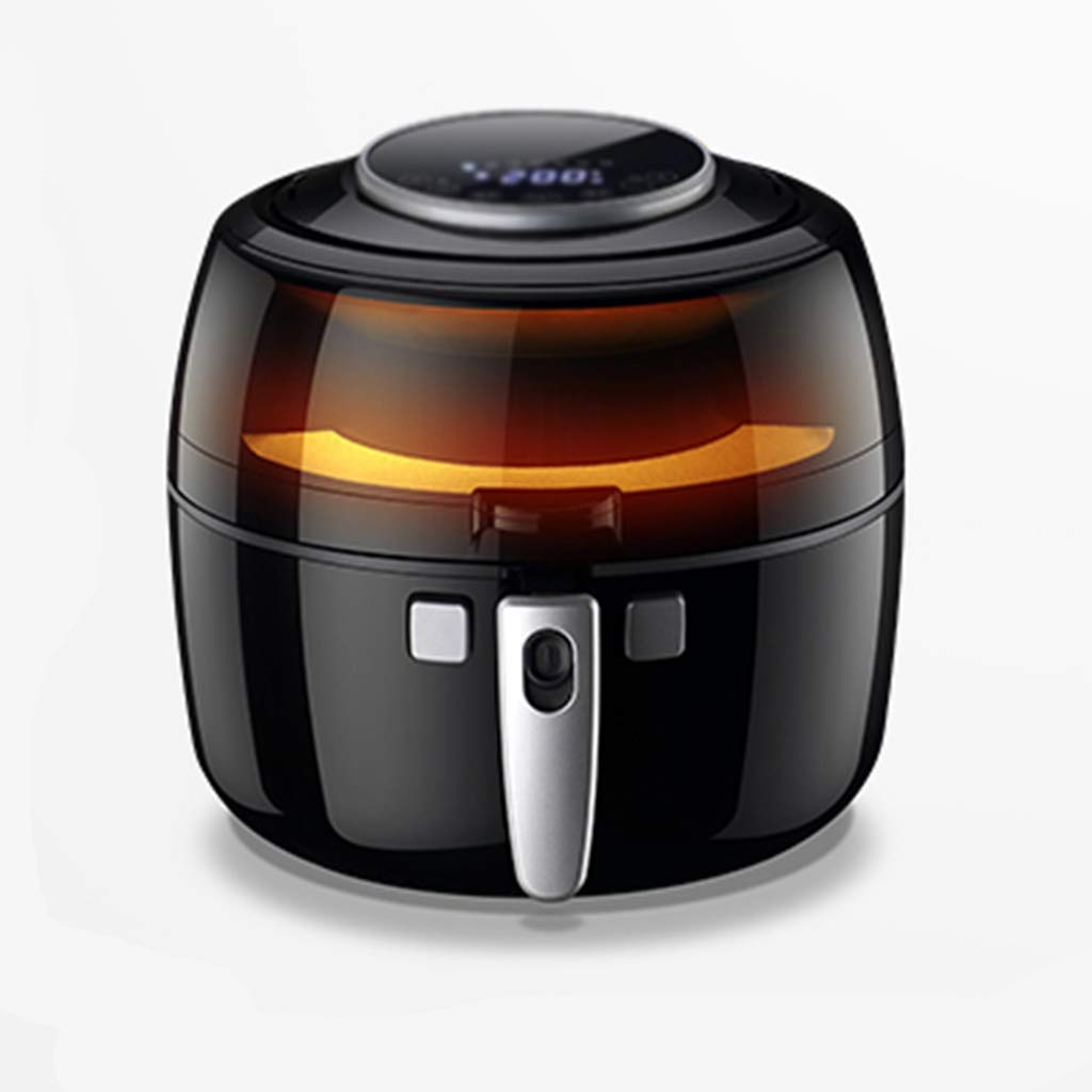 NIUYAN Touch Screen Air Fryer, Home Automatic Small French Fries Machine Oil-Free Air Fryer New Multi-Function Intelligent Large Capacity Air Fryer Oil-Free Health Electric Fryer (Color : Black)