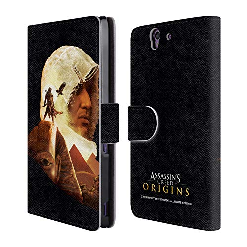 Official Assassin's Creed Bayek Sphinx Origins Character Art Leather Book Wallet Case Cover for Sony Xperia Z / C6603 / C6602