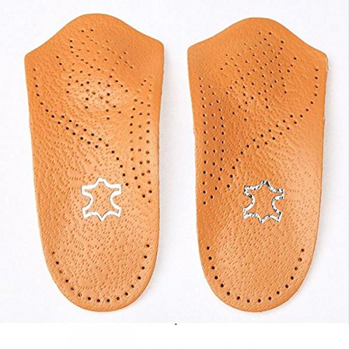 unisex-3-4-length-leather-arch-support-orthopedic-insoles-flat-foot-valgus-corrector-insert-shoe-pad