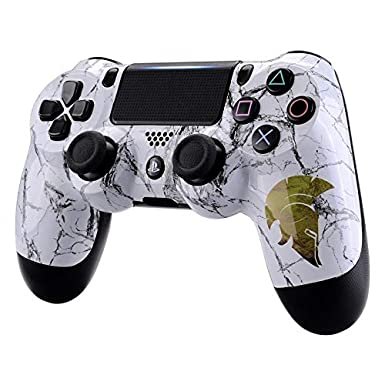 eXtremeRate Hydro Dipped Front Housing Shell Case, Faceplate Cover Replacement Kit for Playstation 4 PS4 Slim PS4 Pro CUH-ZCT2 JDM-040 JDM-050 JDM-055 ...