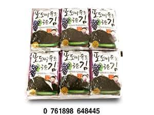 Choripdong Korean Seaweed Snack (Kim Nori), Roasted W/grape Seed Oil & Sea Salted, 0.17-ounce Bags (Pack of 12)