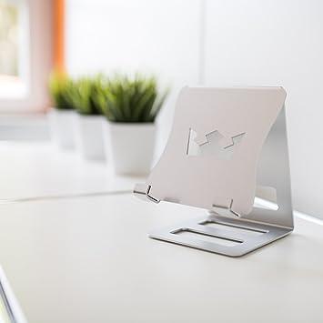 iPad Halterung für Küche und Büro - present-IT von RAABDESIGN - exklusiver  Ständer aus silbernem Aluminium, gönnen Sie sich jetzt ein Stück Luxus