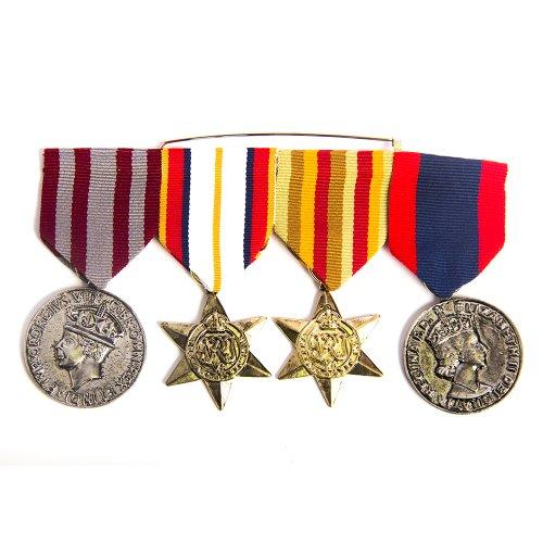 HMS Men's Quadruple War Medal, Multi, one size