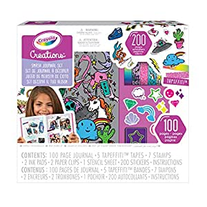 Crayola Creations 100 Piece Smash Journal Kit, Perfect for Scrapbooking, Includes Stickers,  Creative Kids!