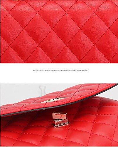 14 30 Tempérament Dames Main Diagonale Sac épaule KYOKIM Paquet Sac 32cm à Pink Treillis PqFH6vT