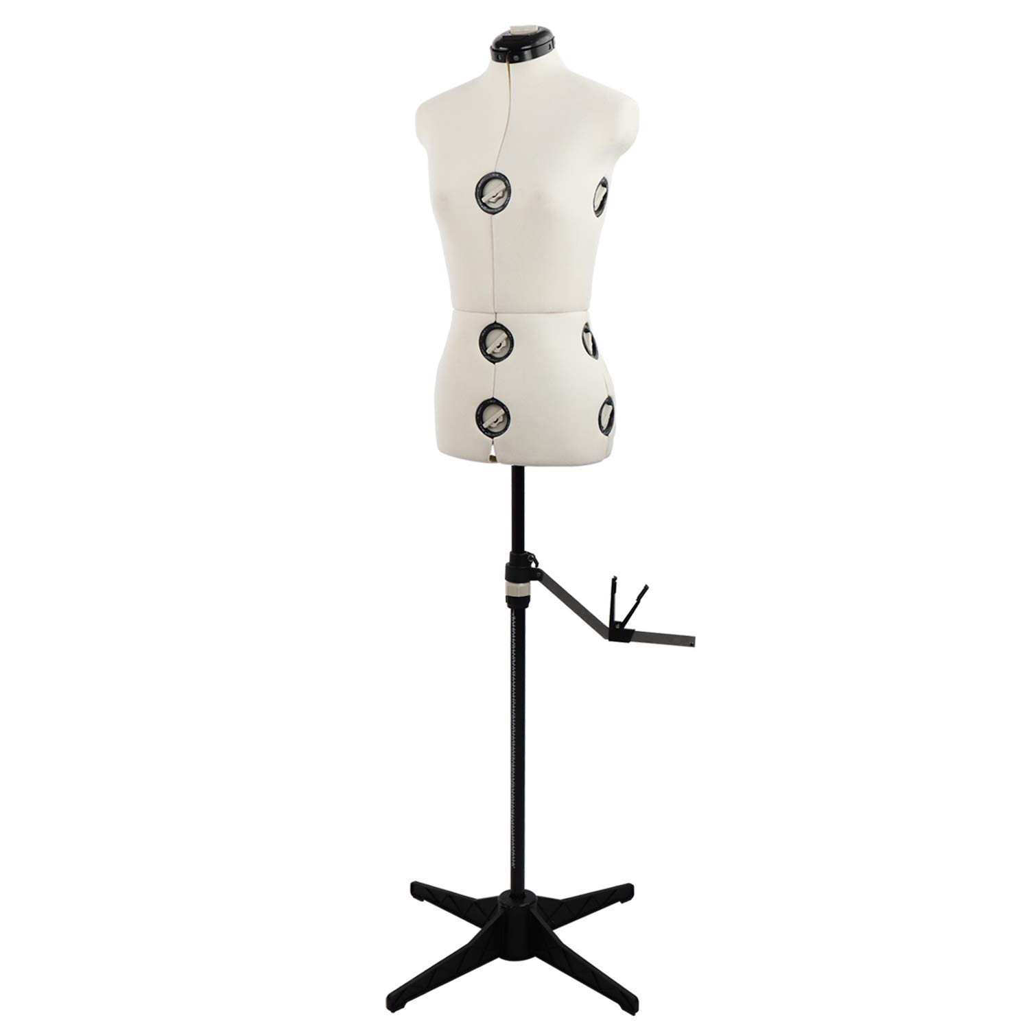13 Dials Mannequin Torso Body with Tri-Pod Stand, Adjustable Pinnable Dress Forms for Sewing, Dressmakers Up to 69 Inch Shoulder Height (Medium) by PDM Worldwide