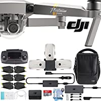 DJI Platinum Mavic Pro Drone with DJI Fly More Combo