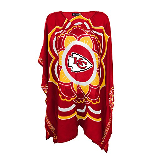 NFL Kansas City Chiefs Womens NFL Caftan, Red, One Size Fits Most