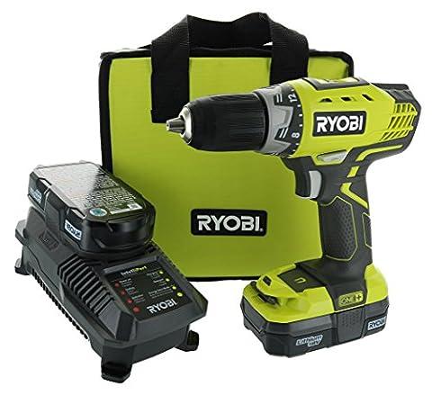 Ryobi P1811 18-Volt ONE+ Lithium-Ion Compact Drill/Driver Kit (Ryobi Drill 1 2 18v)