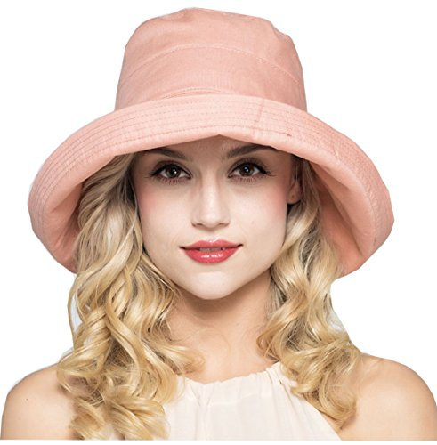 OLEWELL Cloth Wide Brim Adjustable Size Hat For Women by Foldable UPF 50+ Winter Spring Summer - Size Inch Hat Head 24