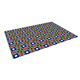 Kess InHouse Bruce Stanfield ''South Africa'' Multicolor Outdoor Floor Mat/Rug, 4 by 5'