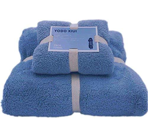 - Timetrace Microfiber Bath Towels Soft Drying Lightweight Antibacterial Absorbent Baby Feeling Luxurious Towel Oversized for Swimming Sports Bath Towel (29.5