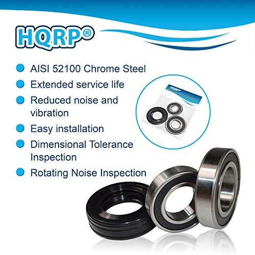 HQRP Bearing /& Seal Kit fits Samsung DC6200156A DC9714604A DC9716151A Washer Tub