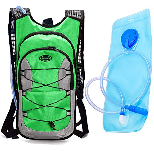 Juboury Hydration Backpack 2L Bladder Men & Women, Daypack Thermal Insulation | Great Hiking, Running, Cycling, Camping, Skiing, Outdoor Activities (Green)