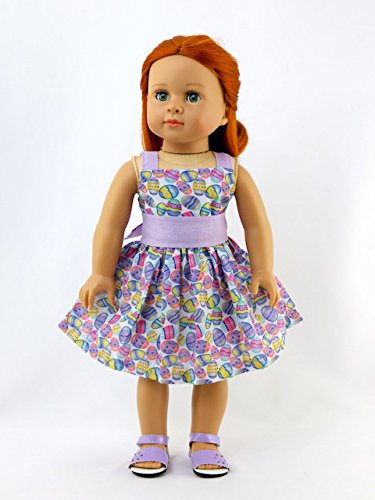 045a66e5e216 Amazon.com  Lavender Easter Egg Dress -Fits 18
