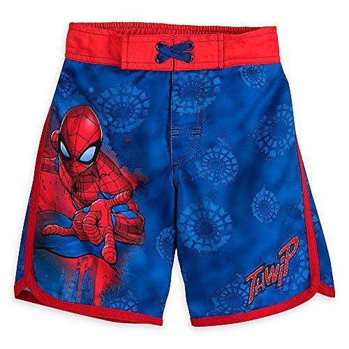Marvel Spider-Man Swim Trunks For Boys Size 7/8 458065932185