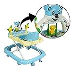 PANDA Creation Adjustable Musical Walker (Blue)