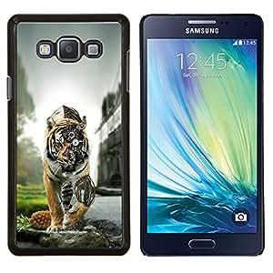 TECHCASE---Cubierta de la caja de protección para la piel dura ** Samsung Galaxy A7 ( A7000 ) ** --Tiger Steampunk