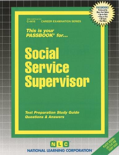 Social Service Supervisor (Passbooks)