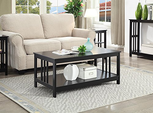 Convenience Concepts Mission Coffee Table, Black