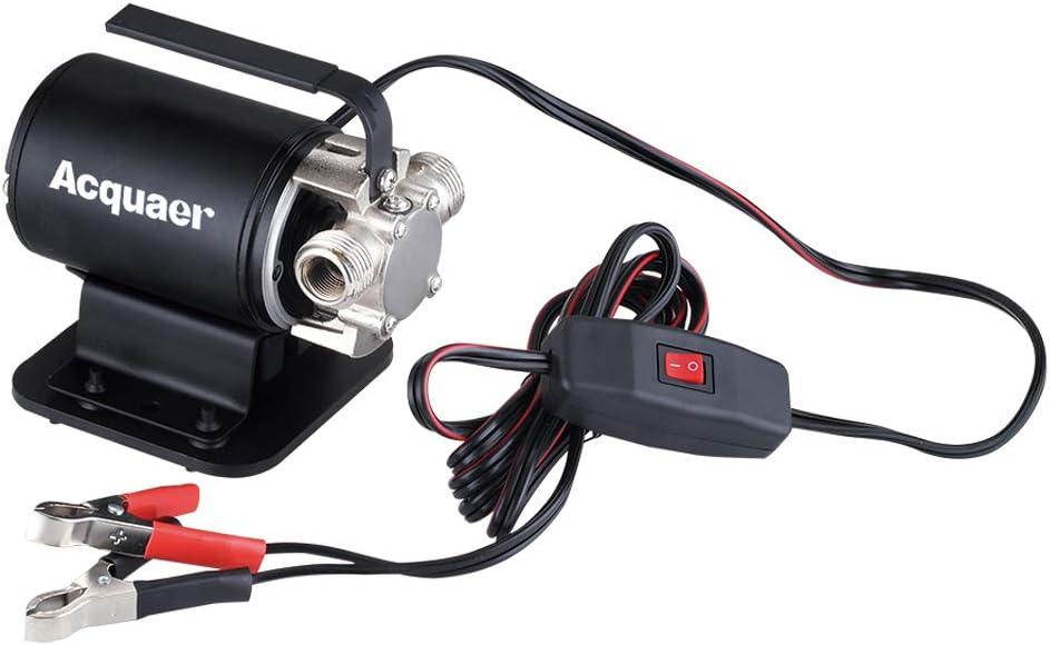 Acquaer DC 12V Battery Powered Portable Transfer Pump TRB010 with Suction Hose Kit