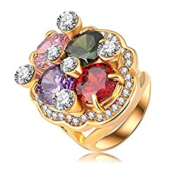 Gold Plated Austrian Crystal Ring
