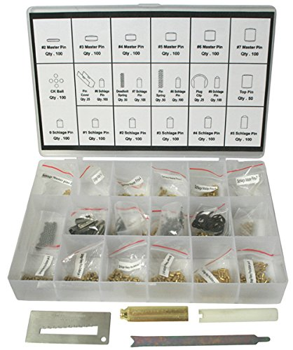 Rekey Kit SC1/SC4 Compatible Re-key Rekeying Set Locksmith Tool Box Bottom & Master Pins with each 100 Piece and 4 Tools (Kit Lock Rekeying)