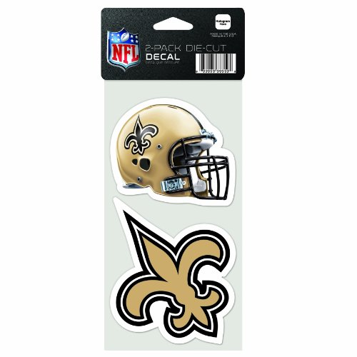 NFL New Orleans Saints 2-Piece Die-Cut Decal, 4