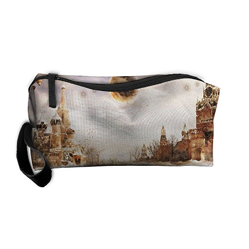 Portable Travel Storage Bags Moscow Clutch Wallets Pouch Coin Purse Zipper Holder Pencil Bag,kits Medicine And Makeup Bags