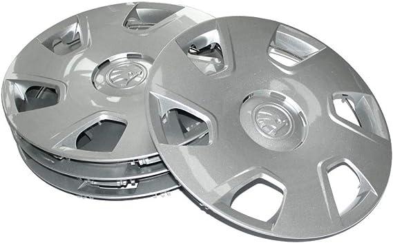Skoda 5ja071455 Radkappen 4 Stück Radblenden Dakara 15 Zoll Radzierblenden Für 6jx15 Stahlfelgen Silber Auto